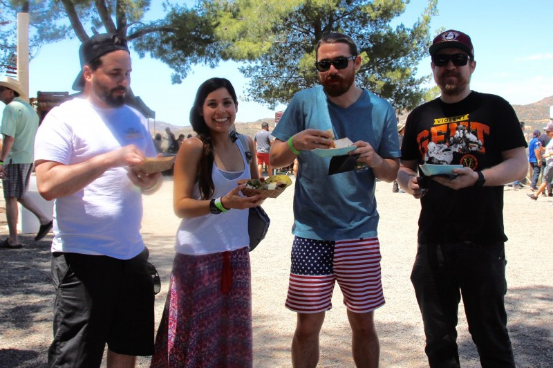 Enjoying Tacos at Sabroso