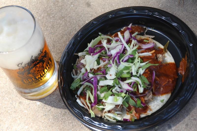 Tacos and Beer at Sabroso