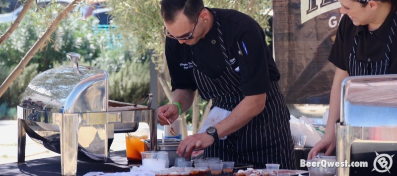Haven Gastropub's Christopher Treadwell dishing up chili at Firkfest 2015