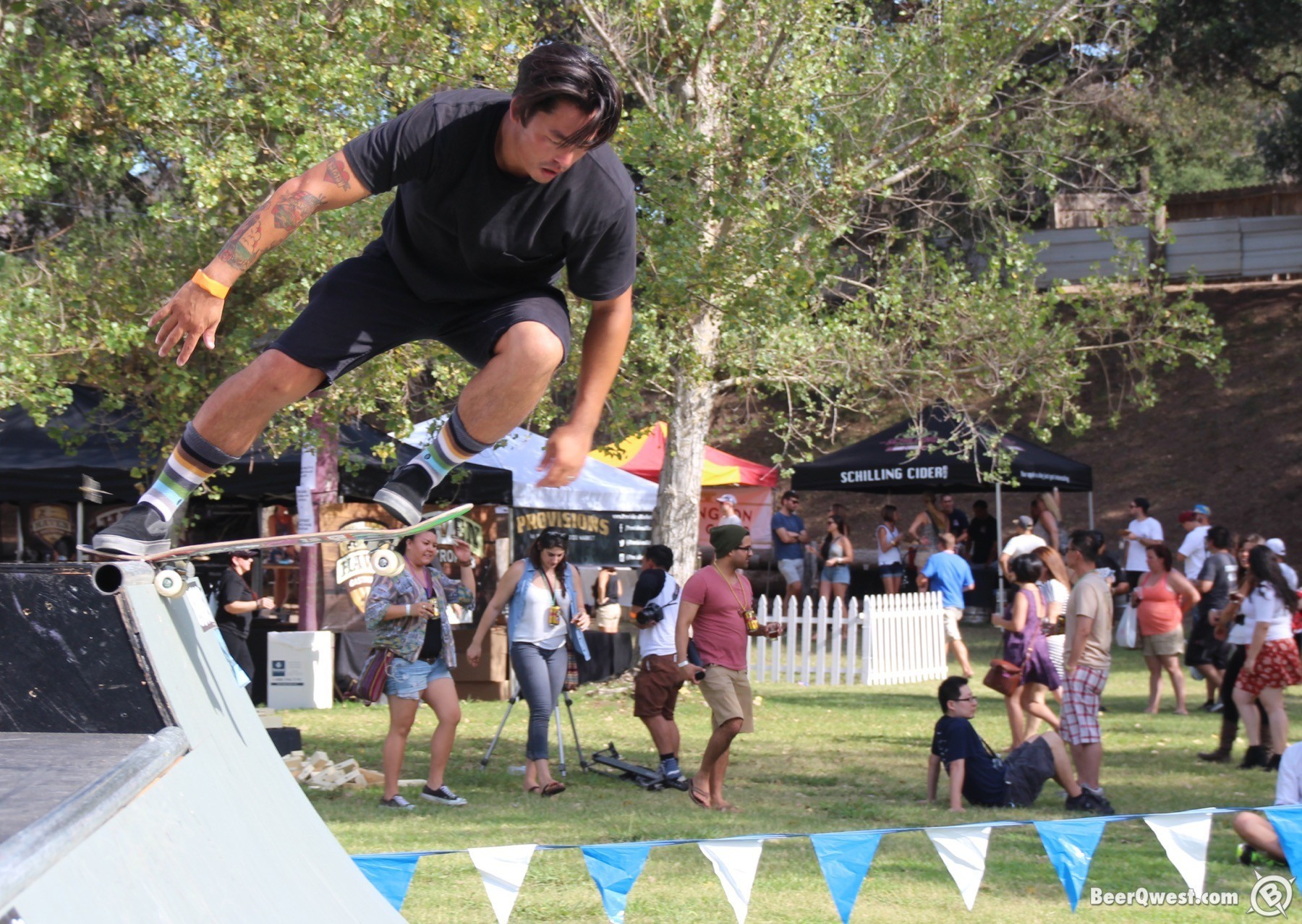 Skateboarding at OC Brew Ha Ha