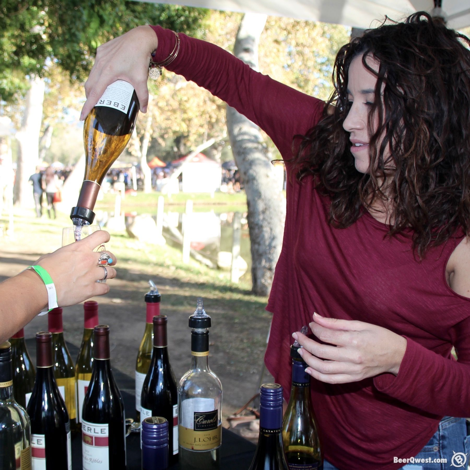 Wine pouring at Cali Uncorked