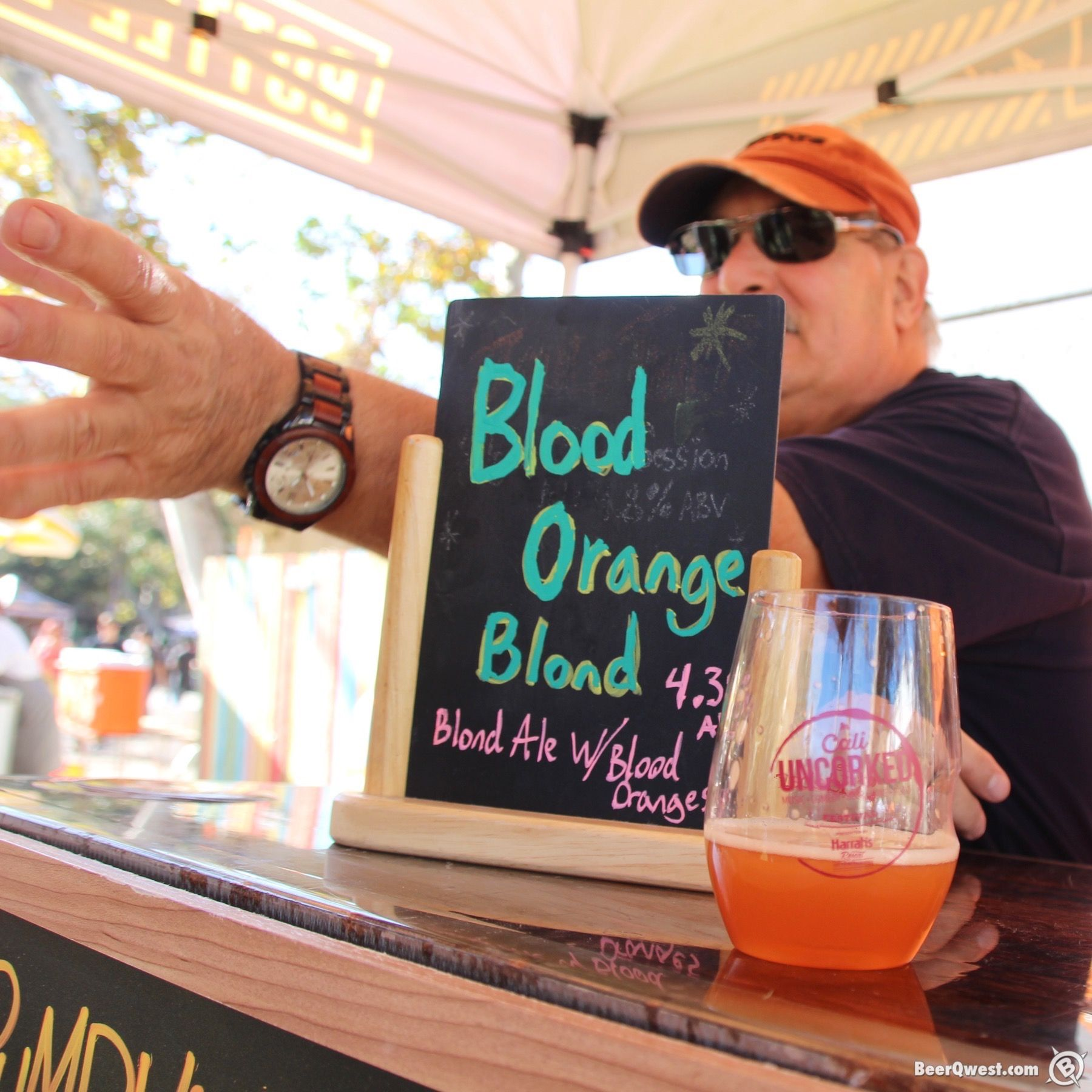 Craft beer pouring at Cali Uncorked