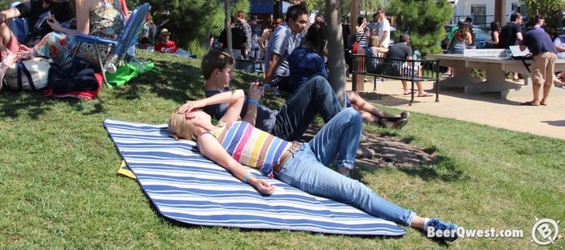 Taking in the sun at Firkfest 2015