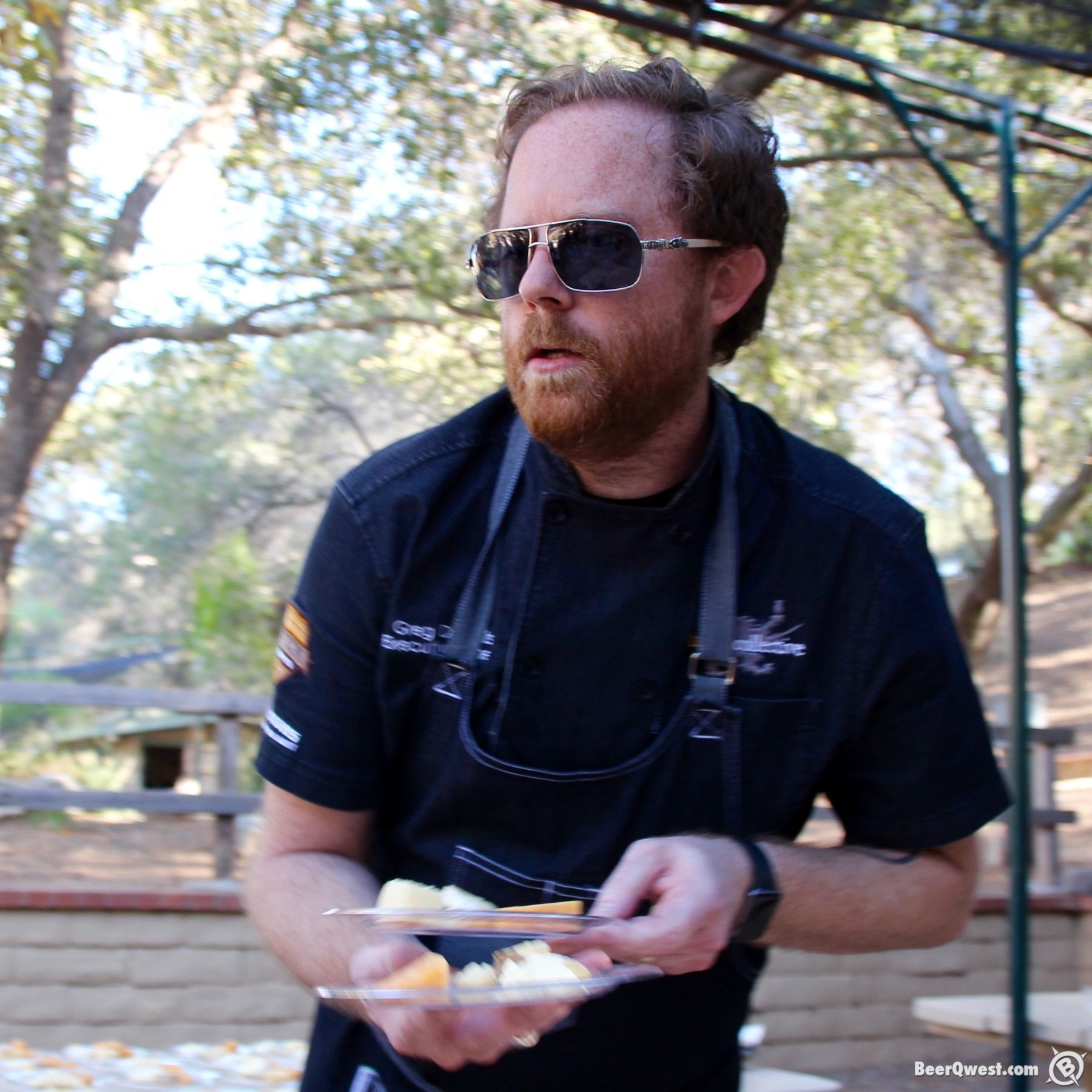 Greg Daniels, Haven Gastropub serving up beer and cheese pairings.